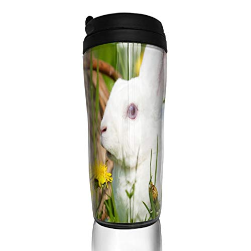 Coffee Cups Rabbit In The Garden Travel Tumbler Insulated Leak Proof Drink Containers Holder Customized 12 Ounces