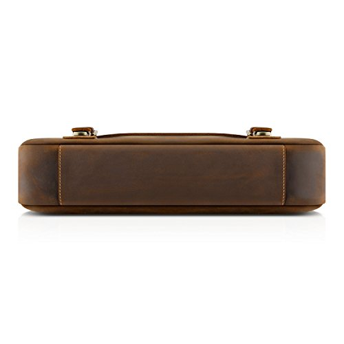 Kattee Mens Leather Satchel Briefcase 16 Inch Laptop Messenger Bag