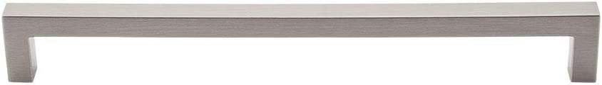 """Top Knobs M1152 Asbury Collection 8-13/16"""" Square Bar Pull, Brushed Satin Nickel"""
