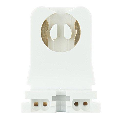 Fluorescent Base Holder Compact 2 (SUNLITE T8 / T12 Fluorescent Tube Bi-Pin Lamp Holder - 2 pcs. / PACK)