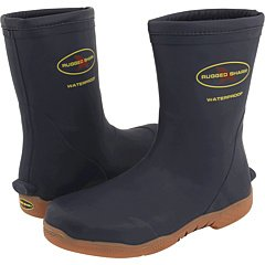 Rubber Fishing Boots - Rugged Shark Great White Color: Navy Mens Size: 10