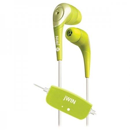 Jwin JH-E22 Green Stereo In-ear Earphones w/ In-Line Volume Control
