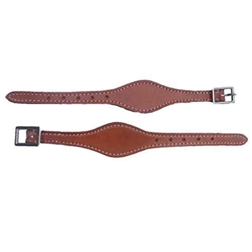 (Hill Leather Shaped Tan Color Stirrup Hobble Straps)
