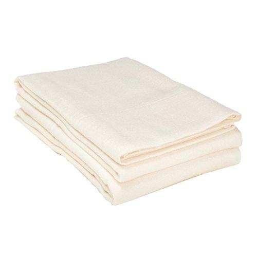 Cotton Flannel Pillowcase (Flannel Cotton Pillowcase Set, King, Solid)