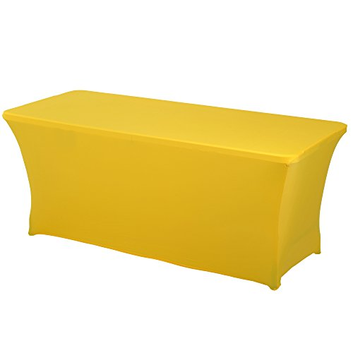 (Haorui Rectangular Spandex Table Cover (6 ft. Canary)