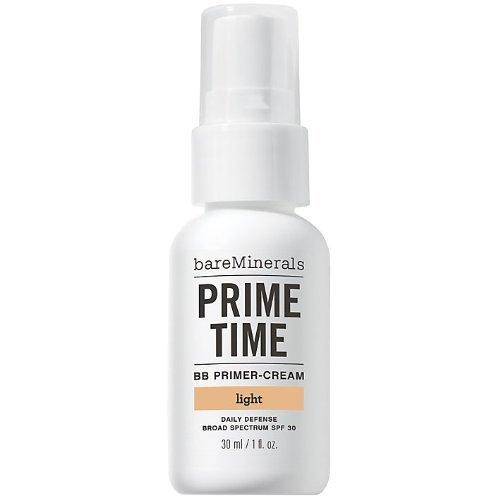 bareMinerals Prime Time BB Primer Cream SPF 30, Light, 1 Fluid Ounce
