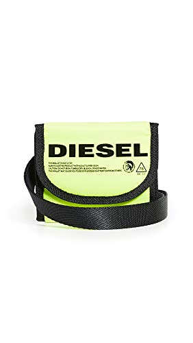 Diesel Men's Yoshino Loop Wallet and Lanyard, fluorescent yellow, UNI