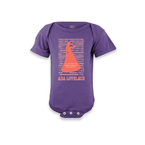 - Ada Lovelace - The World's First Computer Programmer Wore A Dress Short Sleeve Boys-Girls Cotton Baby Bodysuit One Piece - Purple, 24 Months