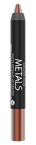 Golden Rose Matte Lipstick Crayon, Metallic Lip Pencil - 09 Chocolate ()