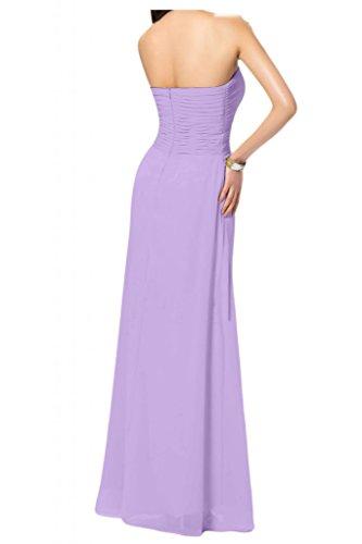 Toscana de novia de Gasa de noche vestidos de pedrería de cristal en forma de corazón elegancia de largo bola madrinas Prom vestidos de fiesta morado