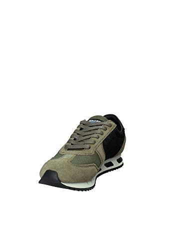 E Tessuto Beige Retinato N Camouflage Scarpe Camoscio 40 Militare Uomo Sneakers Blauer Gomma In Antiscivolo Verde Fondo xCqwXUYC
