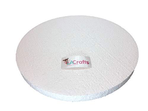 LA Crafts Brand 6x1 Inch Smooth Foam Craft Disc - 12 Pack]()