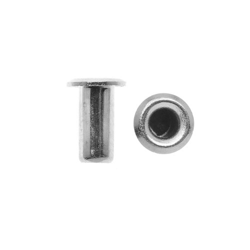TierraCast Hollow Eyelets for Leather 5.2mm Long 3.7mm Diameter, 10 Pieces, Silver Plated ()