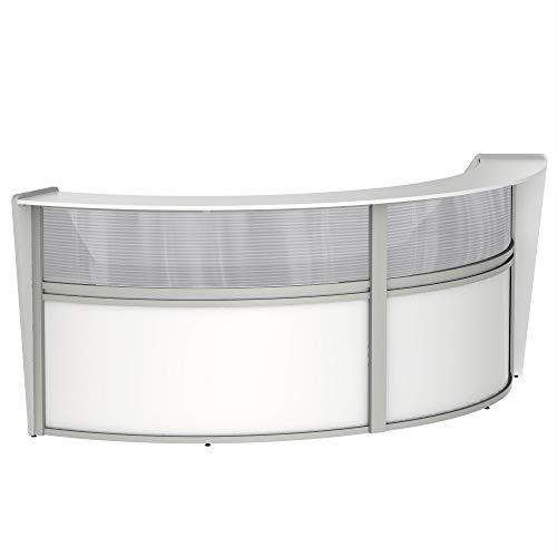 Jual Linea Italia Curved Reception Desk Double Unit Clear Panel
