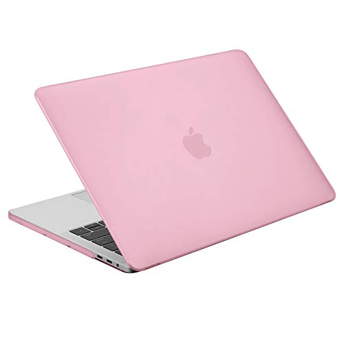 Case Star MacBook Pro 13 Inch Case 2019 2018 2017 2016 Release A1706 A1708 A1989 A2159 Ultra Thin Plastic Hard Sleeve Cover & Keyboard Cover & Dust Brush (Pink)