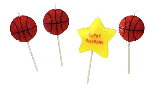 Biedermann & Sons Set of 4 Sports Theme Birthday Candles, 12 Packages, Basketball by Biedermann & Sons