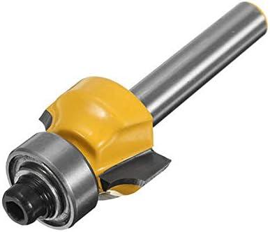 Broca para fresadora de bordes redondeados de 1//4 de pulgada radio de 1//8 pulgada cortador de madera para herramienta de carpinter/ía