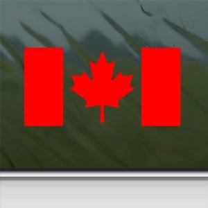 Amazoncom Canada Flag Canadia Red Sticker Decal Maple Leaf - Window stickers for cars canada
