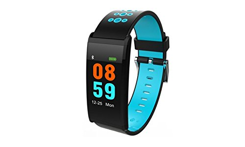 ETCBUYS Fitness Tracker & Exercise Watch - Color Screen Smart Band and Monitors Heart Rate, Blood Pressure, Blood Oxygen, Sleeping Patterns Pedometer, Sedentary, Hydration Reminder and More by ETCBUYS