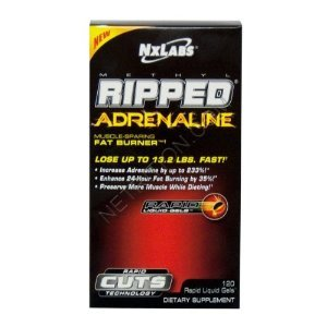 NxLabs Methyl Ripped Muscle Adrenaline-Sparing Fat Burner - 120 Rapid Liquid, paquet de 4