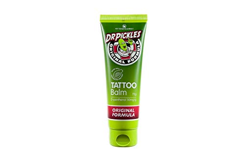 (Dr Pickles Premium Tattoo Balm - During and Tattoo Aftercare Lotion - Skin healing, moisturising, Increases color and reduces pain - Original Formula)