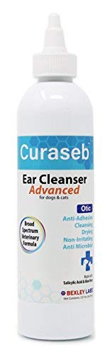 Curaseb - Otic Advanced Dog & Cat Ear Cleaner - Removes Ear Debris & Discharge, Prevents Ear Infections, No Sting Veterinary Formula, 8oz