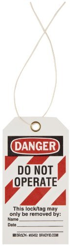 Brady High-Visibility Danger - Do Not Operate - Only the Individual... Tag, Cardstock, 5-3/4 Height, 3 Width (Pack of 25) by Brady