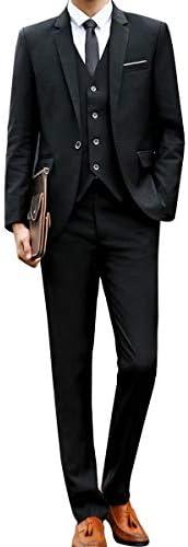 [chorbmark]スーツ メンズ スリーピース スリムタイプ 上下セット セットアップ 3点セット(ジャケット・ベスト・スラックス)