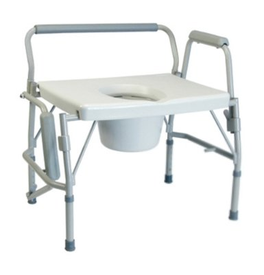 Lumex 6438A Imperial Collection 3-in-1 Steel Drop Arm Commode, 600 lb. Weight Capacity by Lumex