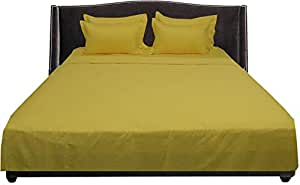 Brightlinen Yellow Single (90 X 190 Cm) Sheet Set Solid(pocket Size: 34 Cm) 6pcs