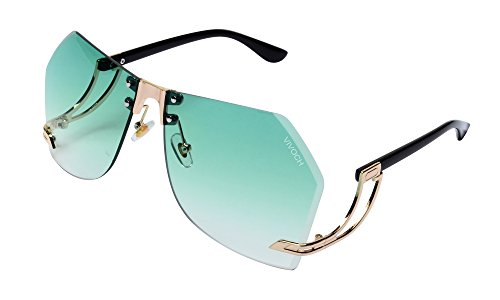 VIVOCH, Fashion Sunglasses for Women or Girls with the Cool and Bright Colors of the Ocean, W02, - Bright Green Sunglasses