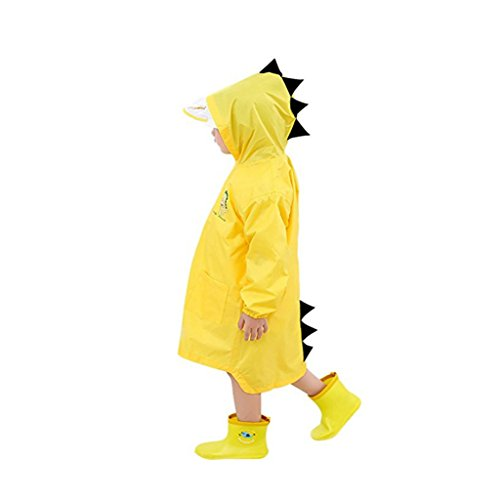 BIEE, Raincoat for Kids Rain Jacket, Poncho Rainwear, Impermeabile Portatile Unisex, Snow Coat EVA all'aperto Poncho Rainwear S