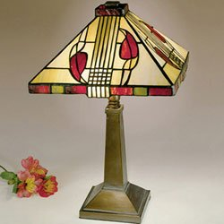 Fine Art Lamps Bronze Table Lamp (Dale Tiffany 2724/797 Henderson Table Lamp, Antique Bronze and Art Glass Shade)
