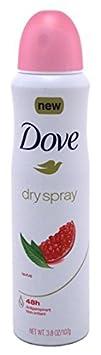 Dove Deodorant 3.8 Ounce Dry Spray Revive Anti-Perspirant 113ml 6 Pack