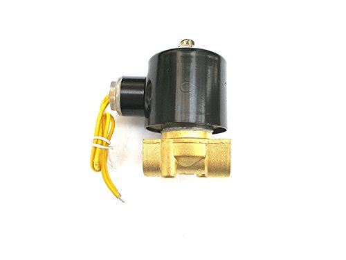 Gasoline Solenoid - 3/8 Solenoid Valve 110v/115v/120v DC Brass Electric Air Water Gas Diesel Normally Closed NPT