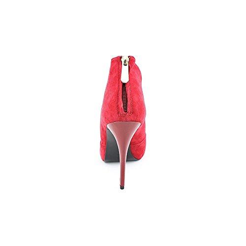 Denk Dat Carlice Vrouwen Maat 8,5 Rode Suede Mode Enkellaarzen