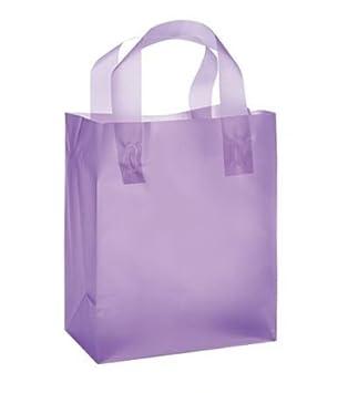 Amazon.com: Púrpura Frosted de plástico bolsas de regalo con ...