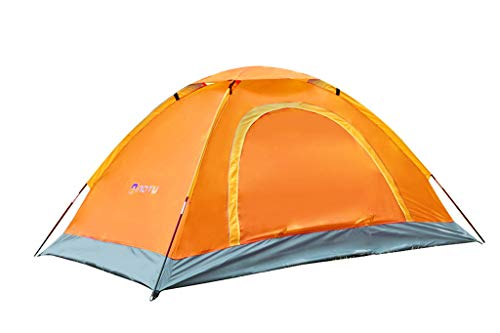 Nesee Camping Tent 2 Person Family Tent Double Layer Outdoor Tent Waterproof Wind Proof Anti-UV (Best Way To Waterproof A Tent)