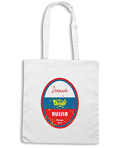 WC0668 CUP Speed Bianca Borsa RUSSIA Shopper Shirt WORLD FOOTBALL xIqqC6w7vP