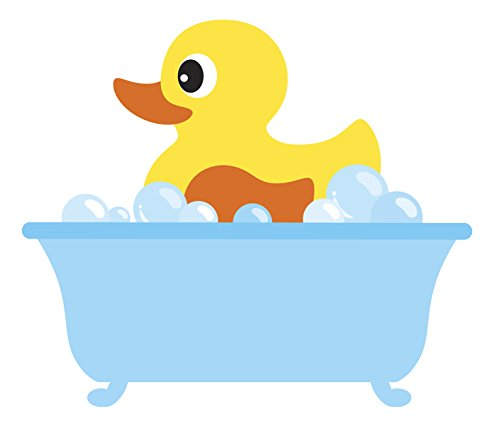Divine Designs Baby Bubble Bath Time Rubber Ducky Vinyl Decal Sticker (4