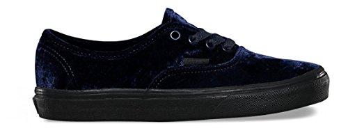 Vans Unisex Authentic Velvet Skate Shoes-Velvet Navy-9.5-Women/8-Men by Vans