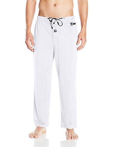 (STACY ADAMS Men's Regular Sleep Pant, White Large)