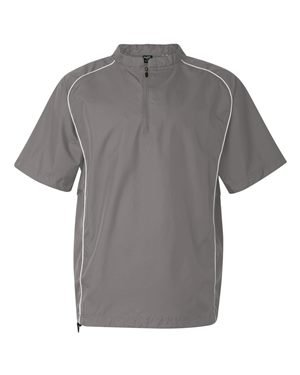 Rawlings Short Sleeve Quarter-Zip Pullover Windshirt - 9702 - Steel - XX-Large
