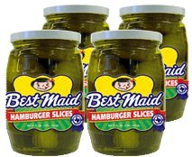Check expert advices for slices hamburger pickles?