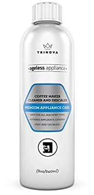 Keurig Descaling Solution Coffee Maker Cleaner and Descaler, Single Cup, Slow Drip, Automatic or Pod Brewing Machines. 8oz TriNova