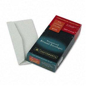 SOUR18G10 - Connoisseur Collection 100% Cotton #10 Rsum Envelopes ()