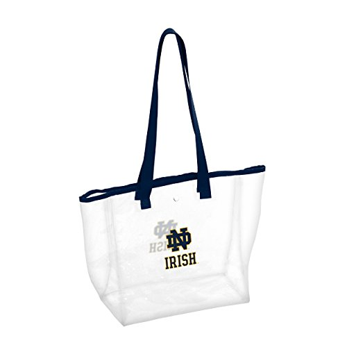 (Logo Brands NCAA Notre Dame Fighting Irish Unisex Notre Dame Stadium Clear Totenotre Dame Stadium Clear Tote, Navy, Adult)