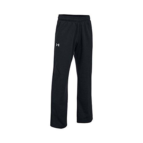 Under Armour UA Hustle Fleece Youth, Black/ White, XL (18-20 Big Kids) x One Size - White Youth Sweatpant