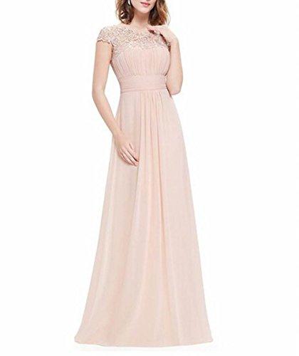 offener Schönheit Leader Brustumfang der Damen Rücken Nude Abendkleid Gerüscht Pink PR7gqZ7