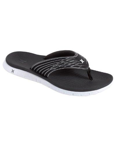 Hurley - Hurley Mens Flip Flops - Phantom - Svart / Vit - Mens 6 / Kvinnor 8
